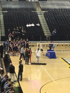 Awards were handed out to the players, and the state championship trophy was awarded to the team after the match. Photo by Mikayla Grumiaux